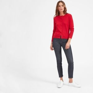 Everlane Red Cashmere Cardigan Sweater S